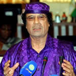 Libyan President Muammar Gaddafi