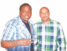 Done Deal . . . Sean Kingston and Clint Robinson of C&A Entertainment, who are organising the concerts.