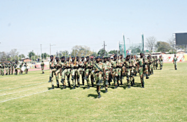 Zimbabwe National Army prepares for the Heroes' Day celebrations at White City Stadium, Bulawayo in this file photo