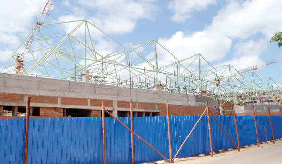 Part of the Victoria Falls airport which is under construction