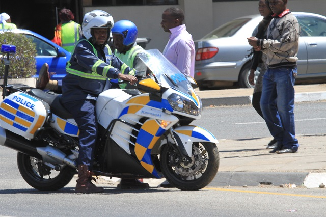 A member of the ZRP motorbike squad in this file photo
