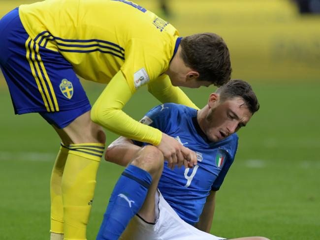 Matteo Darmian looked like he was down and out.