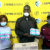 Female soccer players receive sanitary pads